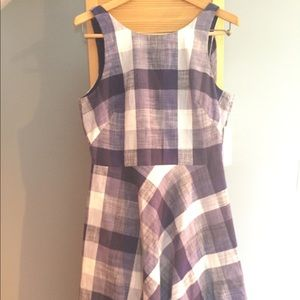 Navy/White cotton dress - NEW with tags